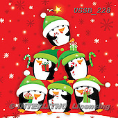 Sarah, CHRISTMAS ANIMALS, WEIHNACHTEN TIERE, NAVIDAD ANIMALES, paintings+++++PenguinsTree-15-A,USSB228,#xa# ,penguins