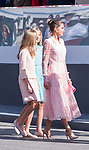 Queen Letizia of Spain,  Princess of Asturias Leonor and Infanta Sofia  during the Military parade because of the Spanish National Holiday. October 12, 2019.. (ALTERPHOTOS/ Francis Gonzalez)