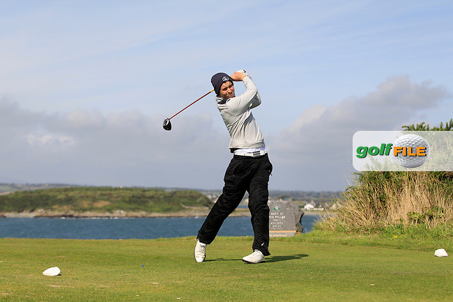 Jack Walsh (Castle) on the 15th tee during Round 1 of the Irish Youths Amateur Close Championship in Ardglass Golf Club on Wednesday 27th August 2014.<br /> Picture:  Thos Caffrey / www.golffile.ie