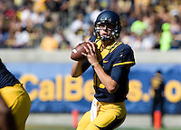 California quarterback Jared Goff in action during the game against Washington State at Memorial Stadium in Berkeley, California on October 5th, 2013.  Washington State defeated California, 44-22.