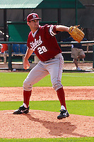 HOUSTON, TEXAS-Feb. 20, 2011:  Danny Sandbrink of Stanford delivers a pitch during the game against Rice, in Houston, Texas.  Stanford defeated Rice 6-2.
