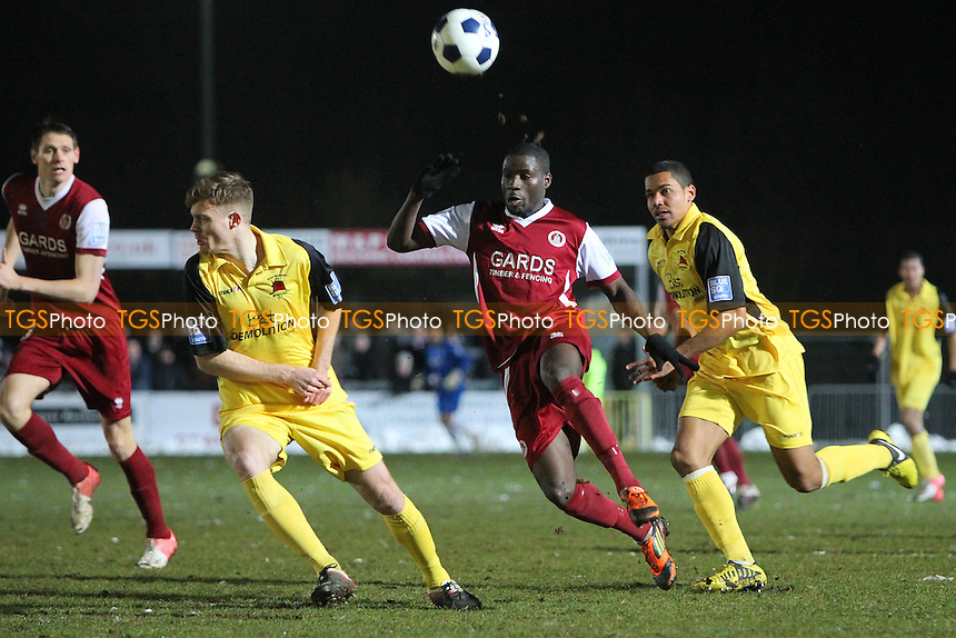 Michael Bakare in action for Chelmsford - Chelmsford City vs Eastbourne Borough - Blue Square Conference South Football at Melbourne Park - 25/03/13 - MANDATORY CREDIT: Gavin Ellis/TGSPHOTO - Self billing applies where appropriate - 0845 094 6026 - contact@tgsphoto.co.uk - NO UNPAID USE.
