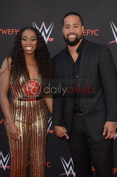 Jimmy Uso, Naomi<br /> at the WWE EMMY For Your Consideration Event, Saban Media Center, North Hollywood, CA 06-06-18<br /> David Edwards/Dailyceleb.com 818-249-4998