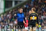 Referee Brendan Griffin during the Kerry County Senior Club Football Championship Final match between East Kerry and Dr. Crokes at Austin Stack Park in Tralee, Kerry.