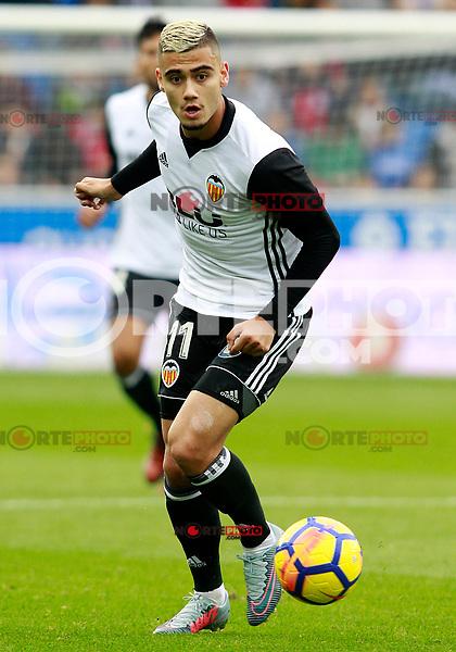 Valencia CF's Andreas Pereira during La Liga match. October 28,2017. (ALTERPHOTOS/Acero) /NortePhoto.com