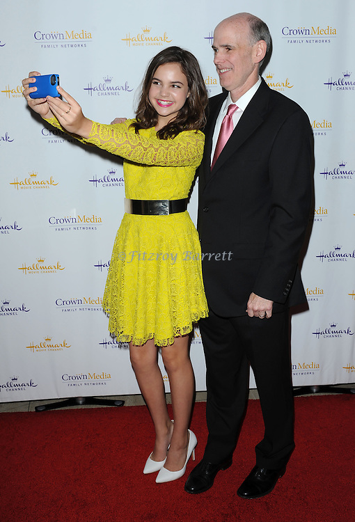 Bailee Madison and Bill Abbott arriving at Hallmark Movie Channel Presents 'The Color Of Rain' held at the Paley Center For Media Beverly Hills, CA. May 28, 2014.