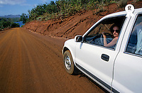 Woman driving a four wheel drive on dirt road (Licence this image exclusively with Getty: http://www.gettyimages.com/detail/95489976 )