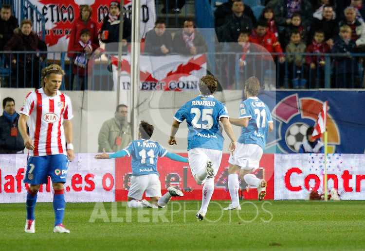 Madrid (31/10/10).- Estadio Vicente Caldeon..Campeonato Nacional de Liga..Atco. Madrid 1- Almeria 1..Gol de Piatti...©Alex Cid-Fuentes/ ALFAQUI..