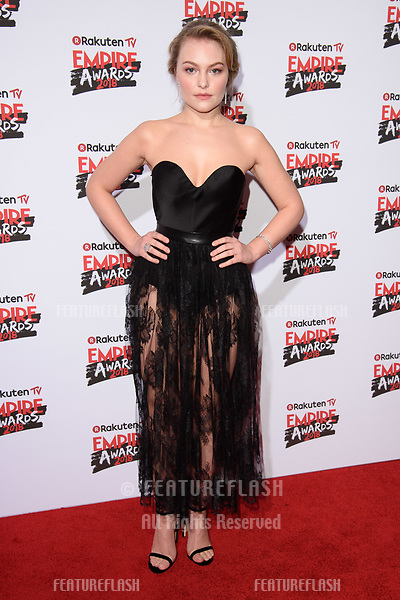 Ciara Charteris arriving for the Empire Awards 2018 at the Roundhouse, Camden, London, UK. <br /> 18 March  2018<br /> Picture: Steve Vas/Featureflash/SilverHub 0208 004 5359 sales@silverhubmedia.com