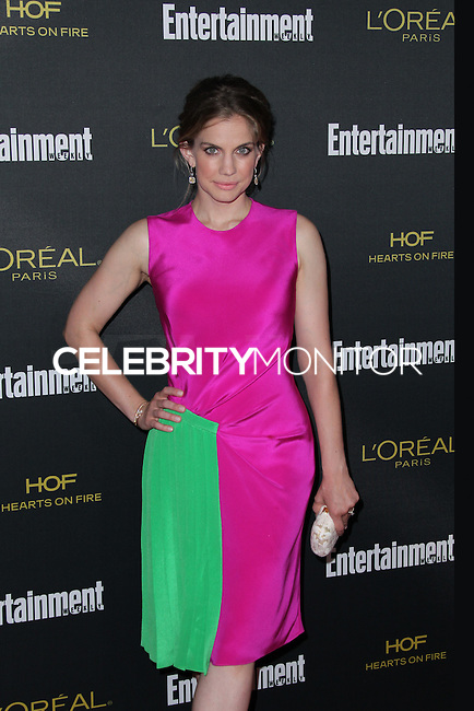 WEST HOLLYWOOD, CA, USA - AUGUST 23: Anna Chlumsky arrives at the 2014 Entertainment Weekly Pre-Emmy Party held at the Fig & Olive on August 23, 2014 in West Hollywood, California, United States. (Photo by Xavier Collin/Celebrity Monitor)
