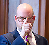 Paul Nuttall MEP <br /> UKIP Leader makes a Brexit speech #SixKeysTests at the Marriott Hotel, London, Great Britain <br /> 27th March 2017 <br /> <br /> Brexit Means Exit <br /> <br /> Ahead of the Prime Minister triggering Article 50 next week, UKIP Leader Paul Nuttall sets out six key tests by which the country can judge Theresa May's Brexit negotiations in a keynote speech on this coming Monday morning.<br /> <br /> <br /> <br />  <br /> Photograph by Elliott Franks <br /> Image licensed to Elliott Franks Photography Services