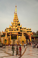 Worshippers at Schwedagon Pagoda- Yangon,Burma