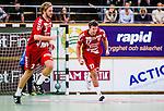 Stockholm 2013-11-10 Handboll Elitserien Hammarby IF - Eskilstuna Guif :  <br /> Eskilstuna Guif Helge Freiman jublar efter att ha gjort ett m&aring;l<br /> (Foto: Kenta J&ouml;nsson) Nyckelord:  jubel gl&auml;dje lycka glad happy