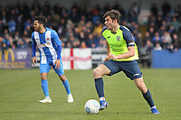 Jake Kirby during the Vanarama National League North match between Nuneaton Town and Stockport County at the Liberty Way Stadium, Nuneaton, England on 27 April 2019. Photo by James  Gill.