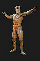 Bronze statue of Zeus or Poseidon (460 B.C.) in National Museum, Greece