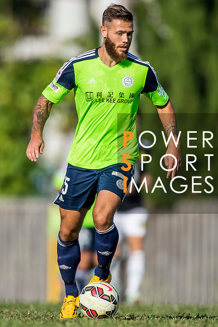 Vincent Lucas Weijl of Wofoo Tai Po in action during the HKFA Premier League between Wofoo Tai Po vs Sun Pegasus at the Tai Po Sports Ground on 22 November 2014 in Hong Kong, China. Photo by Aitor Alcalde / Power Sport Images