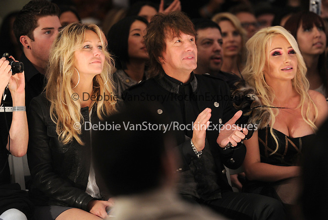 Nikki Lund,Heather Locklear and Richie Sambora sit in the front row while their daughter Ava Sambora walks the Runway at The WTB Spring 2011 Fashion Show Presented by Richie Sambora & Nikki Lund held at Sunset Gower Studios in Hollywood, California on October 17,2010                                                                               © 2010 Hollywood Press Agency