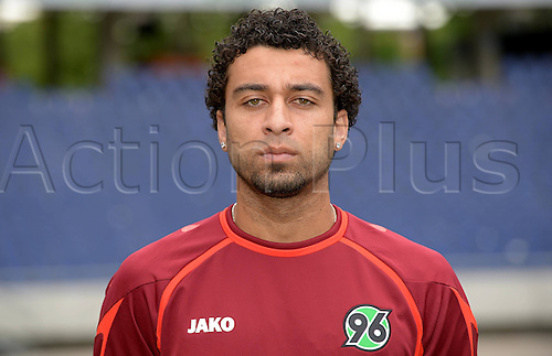 11.07.2013. Hannover, Germany.  Player Felipe Ballas of German Bundesliga club Hannover 96 during the official photocall for the season 2013-14 in the HDI Arena in Hannover (Lower Saxony).