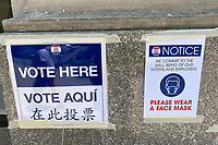 NEW YORK, NY- JUNE 23: View of signs at the Cardozo School of Law during New York City's first primary election during the coronavirus pandemic on June 23, 2020 in New York City. <br /> CAP/MPI/RMP<br /> ©RMP/MPI/Capital Pictures