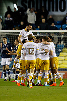 GOAL - Joey Pelupessy of Sheffield Wednesday is mobbed after scoring during the Sky Bet Championship match between Millwall and Sheff Wednesday at The Den, London, England on 20 February 2018. Photo by Carlton Myrie.