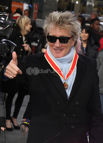 NEW YORK, NY - JANUARY 25:   Rod Stewart pictured on the set of Access Hollywood in New York City on January 25, 2017. Credit: RW/MediaPunch