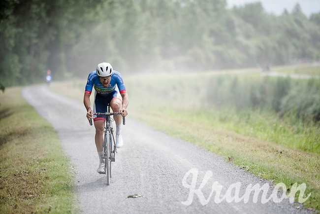Adrien Petit (FRA/Total - Direct Energie)<br /> <br /> Dwars door het Hageland 2019 (1.1)<br /> 1 day race from Aarschot to Diest (BEL/204km)<br /> <br /> ©kramon