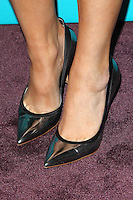 LOS ANGELES, CA - NOVEMBER 05: Close up of Khloe Kardashian's shoes at the FOX's 'The X Factor' Finalists Party at The Bazaar at the SLS Hotel Beverly Hills on November 5, 2012 in Los Angeles, California. Credit: mpi26/MediaPunch Inc. .<br />