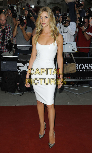 Rosie Huntington-Whiteley<br /> GQ Men of the Year Awards 2013 at the Royal Opera House, London, England.<br /> September 3rd, 2013<br /> full length white dress grey gray pointy shoes <br /> CAP/CAN<br /> &copy;Can Nguyen/Capital Pictures