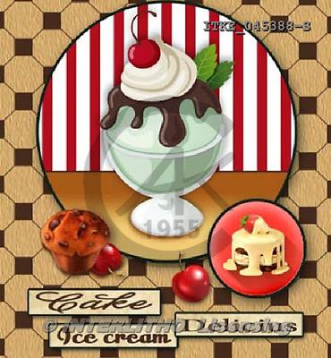 Isabella, MODERN, paintings+++++,ITKE045388-S,#n# ice cream,cupcakes ,everyday