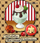 Isabella, MODERN, paintings+++++,ITKE045388-S,#n# ice cream,cupcakes ,everyday