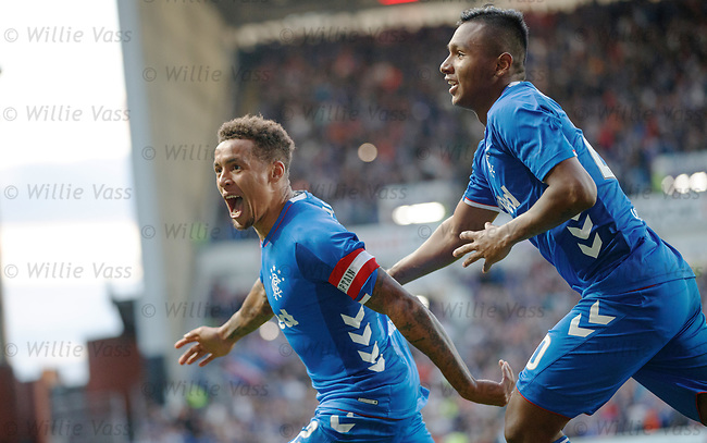09.08.18 Rangers v Maribor: James Tavernier scores from the spot and celebrates