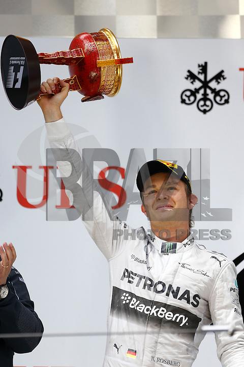 SHANGHAI, CHINA, 20.04.2014 - FORMULA 1 - GP DA CHINA -  O piloto da Mercedes, o alemao Nico Rosberg no GP da China de Fórmula 1, realizada no circuito internacional de Xangai, neste domingo, 20. (Foto: Pixathlon / Brazil Photo Press).
