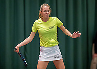 Wateringen, The Netherlands, December 8,  2019, De Rhijenhof , NOJK juniors 14 and18 years, Finals 18 years: Sophie Schouten (NED)<br /> Photo: www.tennisimages.com/Henk Koster