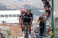 TUNJA - COLOMBIA- 21- 02-2016: Sergio Luis Henao durante la prueba ruta categoría Elite hombres con recorrido entre las ciudades de Sogamoso y Tunja en una distancia 174,6 km kilometros de Los Campeonato Nacionales de Ciclismo 2016, que se realizan en Boyaca. / Sergio Luis Henao during the Elite test individual route men conducted  between the towns of Sogamoso and Tunja at a distance of 174,6 km of the National Cycling Championships 2016 performed in Boyaca. / Photo: VizzorImage / Cesar Melgarejo / Cont.