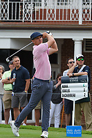 Bryson DeChambeau (USA) watches his tee shot on 17 during round 1 of the 2019 Charles Schwab Challenge, Colonial Country Club, Ft. Worth, Texas,  USA. 5/23/2019.<br /> Picture: Golffile | Ken Murray<br /> <br /> All photo usage must carry mandatory copyright credit (© Golffile | Ken Murray)