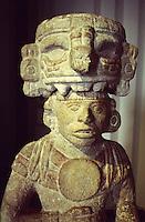 Mayan ruling class figure from Chichen Itza, the Museo Regional de Antropologia, Merida, Yucatan, Mexico