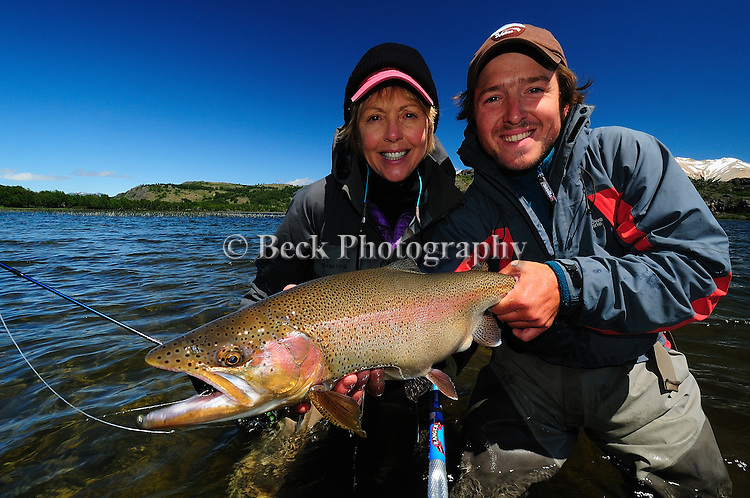 FLY FISHING , TRES VALLES PATAGONIA RAINBOW TROUT