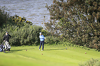 Cormac Ryan (Killeen Castle)  during the final of the Irish Mid-Amateur Open Championship, Royal Belfast Golf CLub, Hollywood, Down, Ireland. 29/09/2019.<br /> Picture Fran Caffrey / Golffile.ie<br /> <br /> All photo usage must carry mandatory copyright credit (© Golffile   Fran Caffrey)