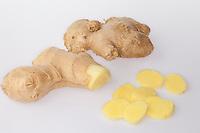 Ingwer, Ingwer-Wurzel, Ingwer-Knolle, Ingwerwurzel, Ingwerknolle, Ingber, Imber, Immerwurzel, Zingiber officinale, Ginger, ginger root, ginger-root