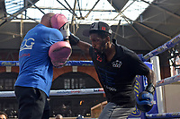 Asinia Byfield during a Public Workout at Old Spitalfields Market on 24th October 2018