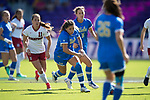 ORLANDO, FL - DECEMBER 03: Anika Rodriguez #8 of UCLA races after the ball against Stanford University during the Division I Women's Soccer Championship held at Orlando City SC Stadium on December 3, 2017 in Orlando, Florida. Stanford defeated UCLA 3-2 for the national title. (Photo by Jamie Schwaberow/NCAA Photos via Getty Images)