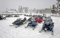 Winter recreatie ondervind milieu problemen door het gebruik van sneeuwscooters