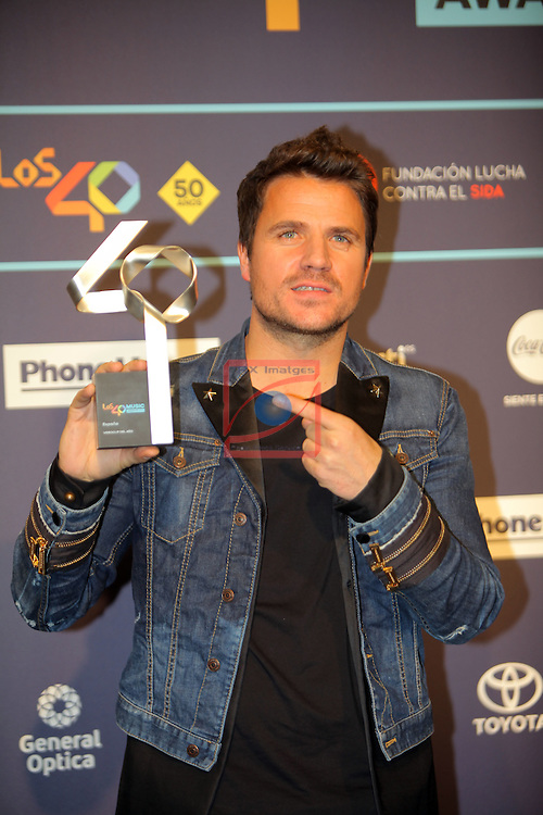 Los 40 MUSIC Awards 2016 - Photocall.<br /> Dani Martin.