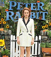 Daisy Ridley at the &quot;Peter Rabbit&quot; UK gala premiere, Vue West End cinema, Leicester Square, London, England, UK, on Sunday 11 March 2018.<br /> CAP/CAN<br /> &copy;CAN/Capital Pictures