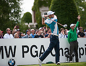 24.05.2015. Wentworth, England. BMW PGA Golf Championship. Final Round.  Martin Kaymer [GER] on the first tee. Final round of the 2015 BMW PGA Championship from The West Course Wentworth Golf Club