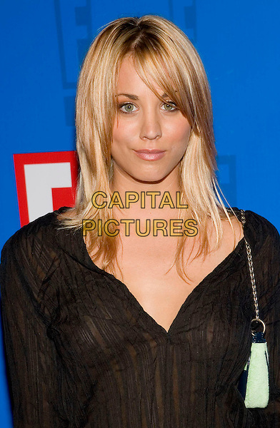 KAYLE CUOCO.E! Entertainment Television's Summer Splash Event.The Tropicana Bar,.Hollywood Roosevelt Hotel,.California, 1st  August 2005.portrait headshot black kaftan blue handbag.www.capitalpictures.com.sales@capitalpictures.com.© Capital Pictures.