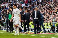 Real Madrid's coach Santiago Solari during La Liga match between Real Madrid and Real Valladolid at Santiago Bernabeu Stadium in Madrid, Spain. November 03, 2018. (ALTERPHOTOS/A. Perez Meca)<br /> Liga Campionato Spagna 2018/2019<br /> Foto Alterphotos / Insidefoto <br /> ITALY ONLY