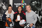 Under 18 Girls  Player of the Year, Grace Gago from Manurewa High School with Sharnita Woodman and Hazel Tubici. Counties Manukau Rugby Unions Junior Prize giving held at ECOLight Stadium Pukekohe on Wednesday October12th, 2016.<br /> Photo by Richard Spranger.