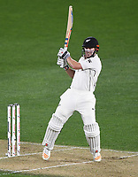 Henry Nicholls batting.<br /> New Zealand Blackcaps v England. 1st day/night test match. Eden Park, Auckland, New Zealand. Day 1, Thursday 22 March 2018. &copy; Copyright Photo: Andrew Cornaga / www.Photosport.nz
