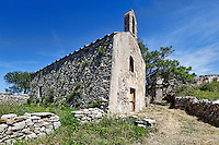 An old church in Kato Chora at Kythera island, Greece